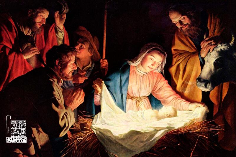 Adoración de los pastores Navidad