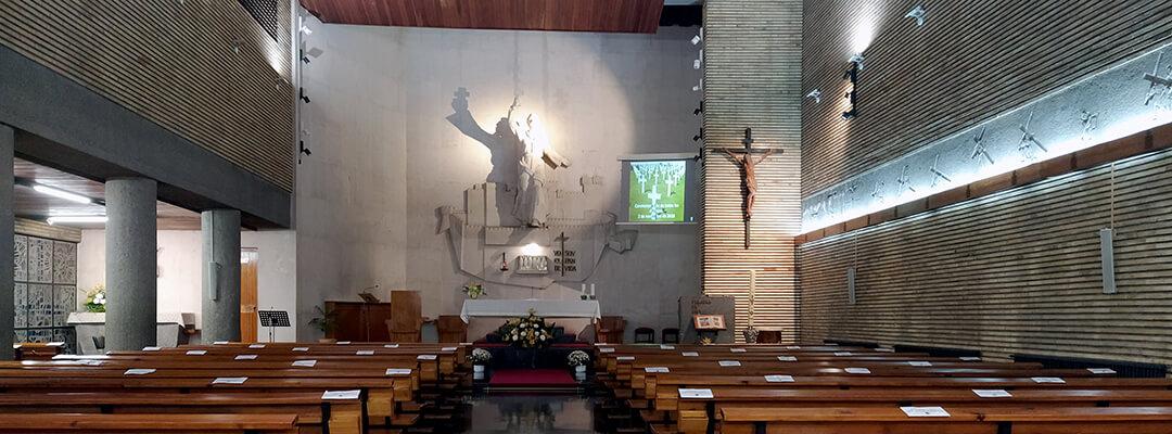 Vista general parroquia san Francisco Javier